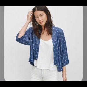 Aritzia azure skies tanka kimono in blue sz xs